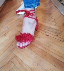 crvene ljetne sandale