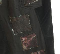 EXEX crna duga suknja