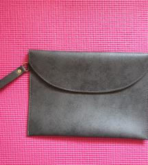 Siva kožna pismo torba