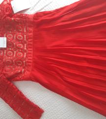 Kratka crvena haljina