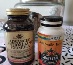 Solgar Advanced antioxidant i Solaray Shatavari