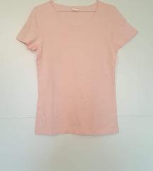 Nenošena roza pamučna majica kratkih rukava L, XL