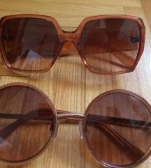 Oversize smeđe hippy naočale