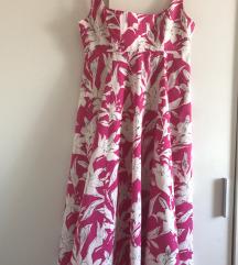 Zara cvjetna midi haljina, vel. L