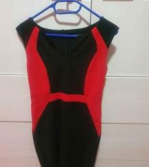 Crveno-crna haljina