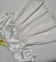 Bijela svilena haljinica