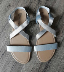 Srebrne ženske sandale Esmara (novo)