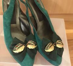 Zelene cipele, prava koža. Potpuno nove