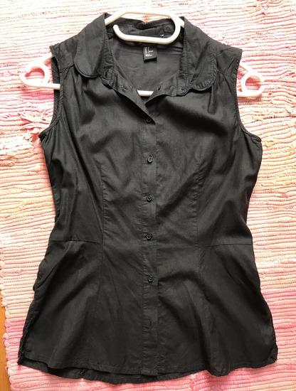 H&M crna pamučna košulja