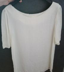 Bjeličasta bluza s kratkim rukavima