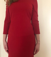 Mango basic crvena haljina XS