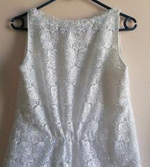 Haljina od prave čipke bijela svečana unikat