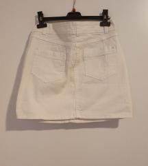 Bijela traper suknja