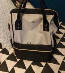 Crno-sivi platneni ruksak