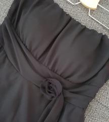 Crna asimetrične haljina 40-42