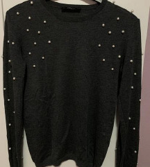 Zara pulover s perlicama