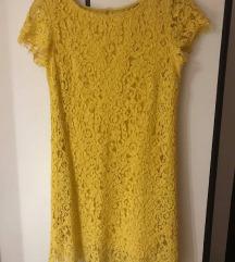 Čipkasta Zara haljina