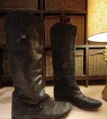 Artigiana crne kožne čizme- povoljno!