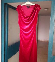 crvena velvet haljina