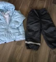 Jakna 110/116 benetton ski hlače