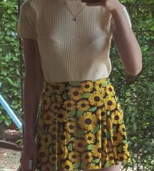 Mini H&M suknja s printom suncokreta