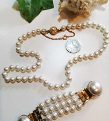 Stakleni biseri vintage ogrlica plus poklon