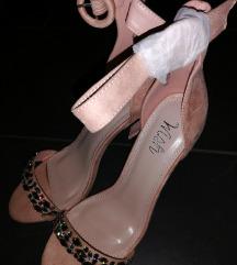 Nove roze sandale sa cirkonima