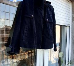 Comptoir Des Cotonniers plava pliš jakna S /