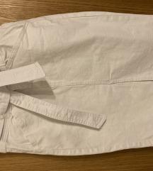 Bijela traper suknja - visoki struk
