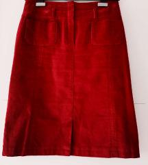 Ženska suknja od tankog samta vel. 38