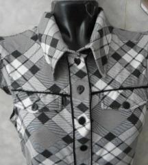 karirana majica bluza