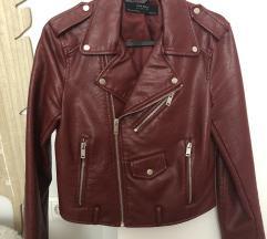Zara bordo motociklistička jakna XS