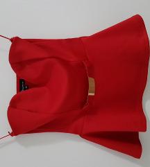 crveni peplum top