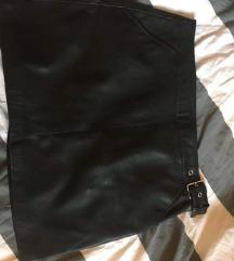 Zara L kožna suknja