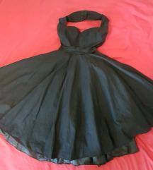 Crna retro pin up haljina