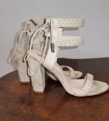Roberto shoes bijele štikle na deblju petu