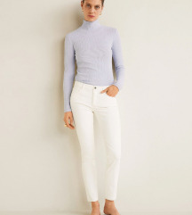 Mango hlače Waxed skinny Belle jeans