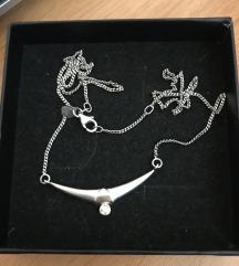 Vintage srebrna ogrlica
