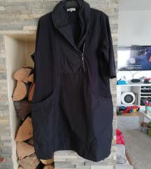 Crna tunika/haljina asimetrična