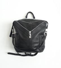 DIESEL crni kožni ruksak / torba.
