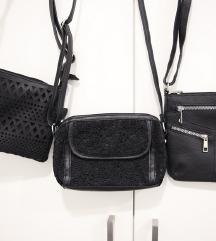 Lot od 3 crne torbice