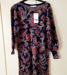 nova cvjetna zara haljina od žakrda s remenom