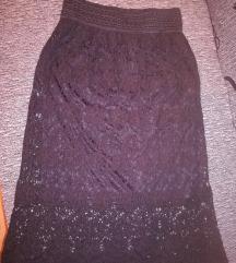 Crna čipkasta suknja