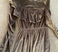 Plisana midi haljina