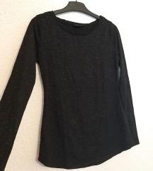 Basic crna strukirana majica