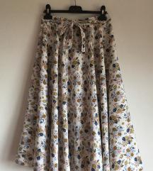Cvjetna midi suknja