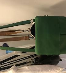 Zelena kožna torba