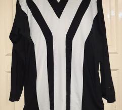 Yohji Yamamoto crno bijela majica na pruge L