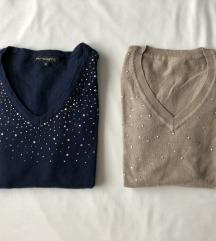 LOT: dva pulovera ukrašena cirkonima