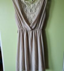 Ljetna krem točkasta haljinica (pt.gratis)